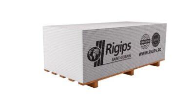 Sádrokartonová deska Rigips RB 12,5x1250x3000 mm (3,75 m2)(100621)