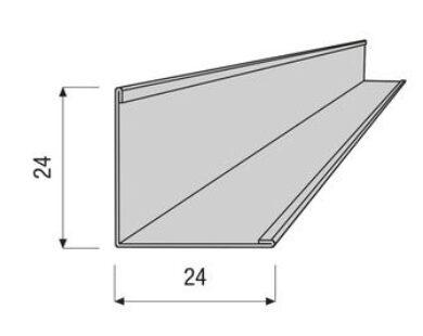Profil AMF VENTATEC obvodový 24/24/3000 mm                                      (700073)