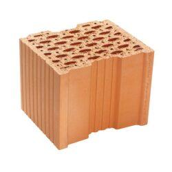 POROTHERM 30 AKU SYM P15/80-Svisle děrované cihly Porotherm 30 AKU SYM jsou určené pro omítané nosné zdivo tl. 300 mm. Cihly mají díky své vyšší objemové hmotnosti a systému děrování výborné akustické a tepelně akumulační vlastnosti. Tyto cihly jsou velmi vhodné pro mezibytové příčky tloušťky 300 mm, neboť s rezervou splňují požadavky ČSN na zvukovou izolaci a tepelné vlastnosti zdiva. Cena platí pouze pro zboží skladem a odběr ze skladu Frýdek-Místek.