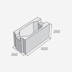 Ztracené bednění PRESBETON 25-25-Betonová tvárnice určeny pro všechny výstavby základových pásů různých druhů staveb bez použití klasického bednění.