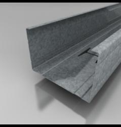 CW profil 100/4 m-Centrální profil ke konstrukci sádrokartonových příček v šířce 100 mm.
